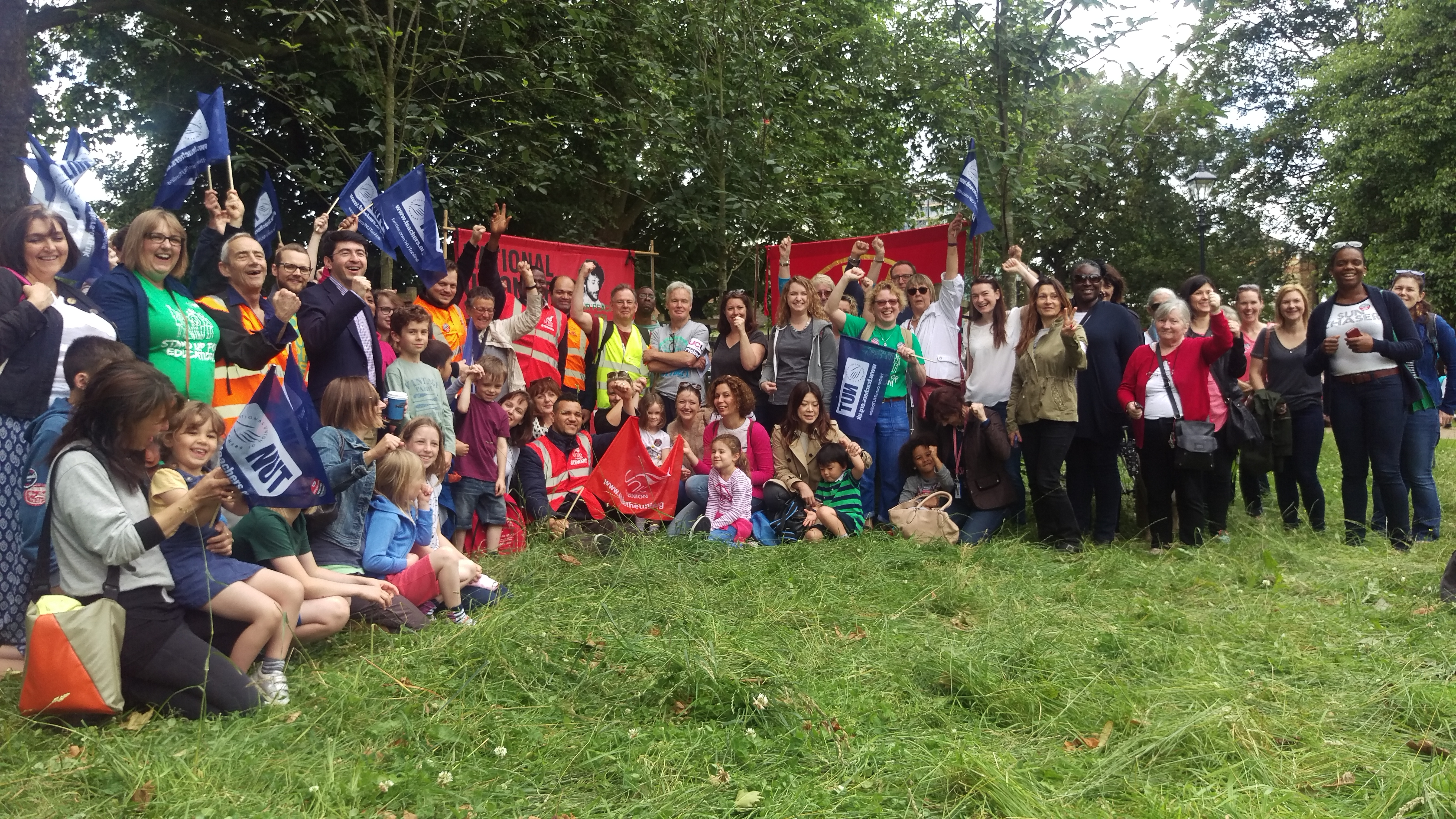 Ealing Teachers + other groups on strike + parents + a few supporters from other unions